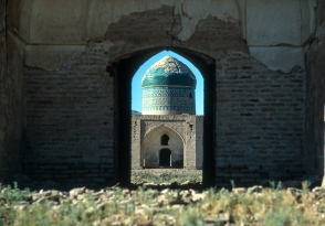 Cupola of a ruined mosque near Soltanieh.
