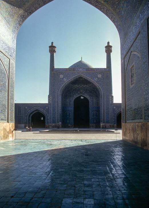 The south iwan from the entrance, Majid-I-Shah, Isfahan.