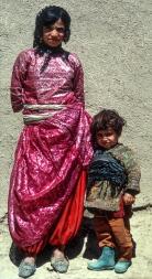 Kurdish young lady and boy.