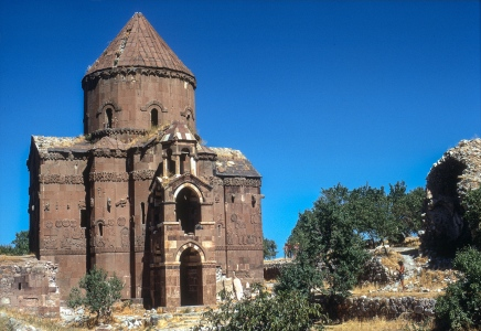 Armenian church on Aghtamir Island.